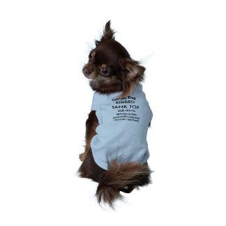 Custom Dog Tank Top T-shirt BLUE XS 0-4 lb dogs Dog T-shirt