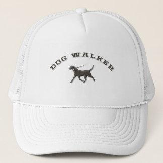 Custom Dog Walker Hat - White & Brown Logo