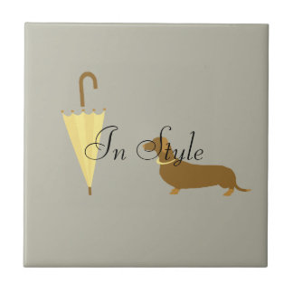 Custom Dog Walker Pet Lover In Style Ceramic Tile