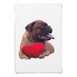 Custom Dogue de Bordeaux Red Heart iPad Mini Cover
