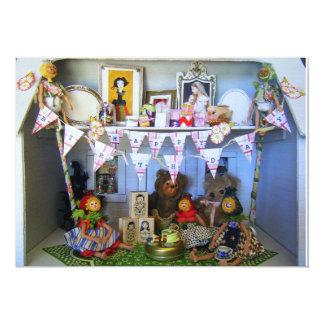 Custom Doll House Tea Party Birthday Scene - Card