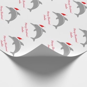 Christmas Themed Custom dolphin Merry Christmas kids wrapping paper