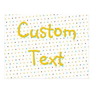 Custom Dots 'n' Stripes Postcard