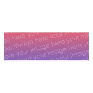 Custom Double Photo Bookmark w/Emerson Quote Mini Business Card