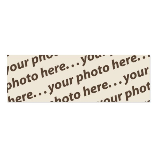 Custom Double Photo Bookmark w/Thoreau Quote Business Card Template