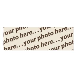 Custom Double Photo Bookmark w/Thoreau Quote Mini Business Card
