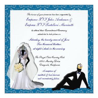 "Custom Drag Imperials Royal Wedding Invitations 5.25"" Square Invitation Card"