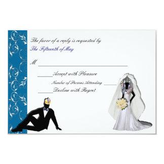 Custom Drag Imperials Wedding Response Card