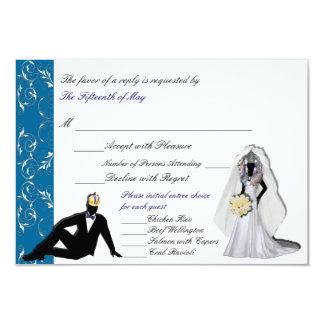 Custom Drag Imperials Wedding RSVP with Entrees 3.5x5 Paper Invitation Card