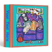 Custom DrCats On Chairs Art Binder