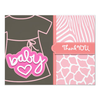 Custom dress thank you card personalized invites