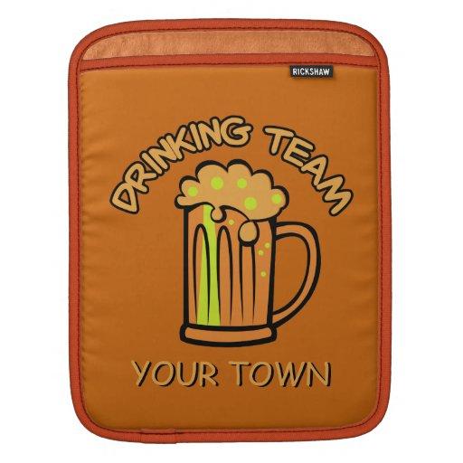 Custom Drinking Team iPad sleeve