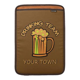 Custom Drinking Team MacBook sleeve