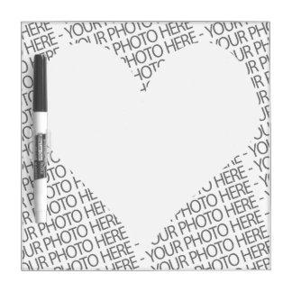 Custom Dry Erase Board Photo Template Heart