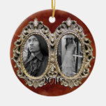 Custom Dual Photo Frame Ornament