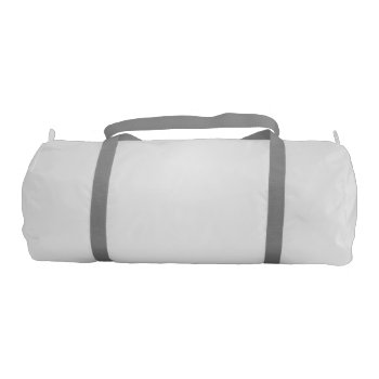 Custom Duffel Bag With Silver Straps 20x9 by CREATIVESPORTS at Zazzle