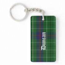 Custom Duncan Tartan Plaid Key Chain