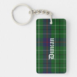 Custom Duncan Tartan Plaid Key Chain