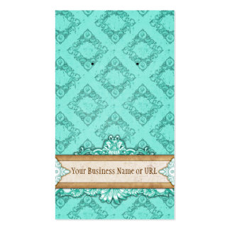 Custom Earring Card Turquoise Vintage Display Card Double-Sided Standard Business Cards (Pack Of 100)