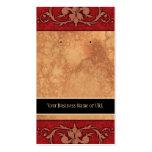 Custom Earring Cards Red Vintage Damask Business Card