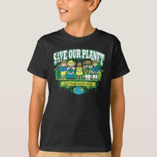 Custom Earth Kids, ADD YOUR NAME! T-Shirt