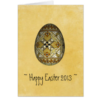 Custom Easter 2013 Card ~ Painted Gold Russian Egg