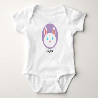 Custom Easter Bunny Baby Bodysuit - Purple Accent