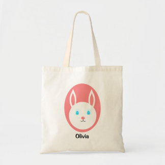 Custom Easter Bunny Tote with Pink