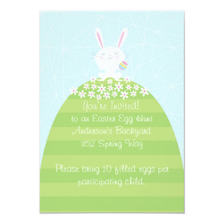 Custom Easter Egg Hunt Inviatation Card