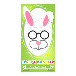 Custom Easter Photo Booth Props Card. Card