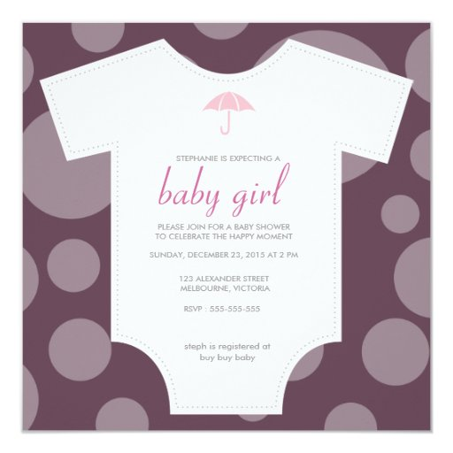 custom eggplant shirt baby shower custom invitations zazzle