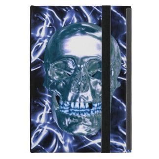 Custom Electric Blue Chrome Skull iPad Mini Case
