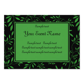 Custom Elegant Black and Green Nature Event Card