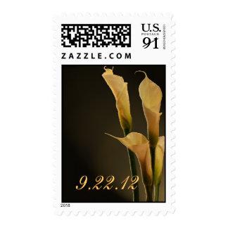 Custom Elegant Calla lily postage