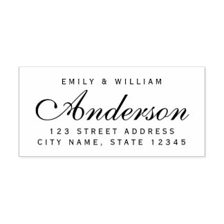 Custom Elegant Couple Family Name Home Address Self-inking Stamp