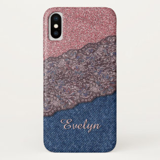 Custom Elegant Cute Stylish Floral Lace Pattern iPhone X Case