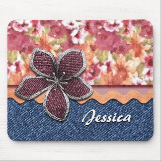 Custom Elegant Cute Summer Floral Watercolor Mouse Pad