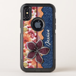Custom Elegant Cute Summer Floral Watercolor OtterBox Commuter iPhone X Case