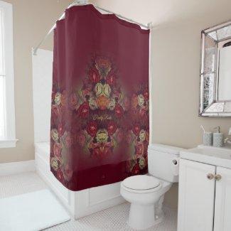 Custom Elegant Floral Shower Curtain