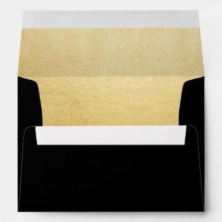 Custom Elegant Gold Foil Wedding Return Address Envelope