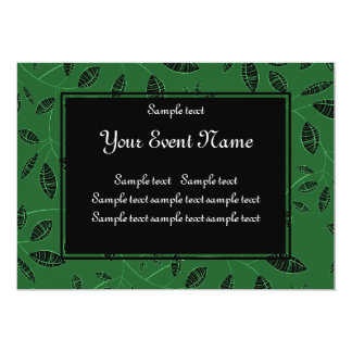 Custom Elegant Green and Black Nature Event Card