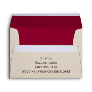 Custom Elegant Linen Wedding Invitations Envelopes