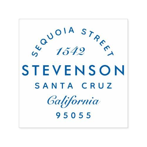 Custom Elegant Modern Family Name Return Address Self_inking Stamp