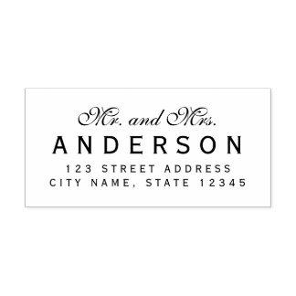 Custom Elegant Mr and Mrs Name Return Address Self-inking Stamp
