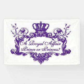 Custom Elegant Regal Gender Reveal Banner