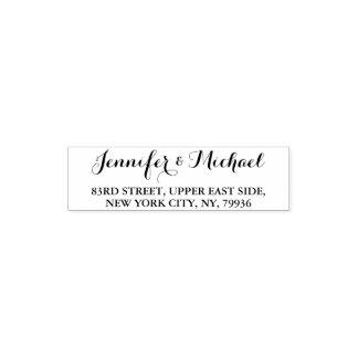 Custom Elegant Stylish Name Return Address Wedding Self-inking Stamp