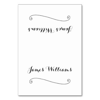 Custom Elegant White Place Setting Cards