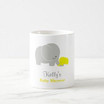 Coffee Themed Custom Elephant Baby Shower Mug Party Favor