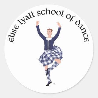 CUSTOM Elise Lyall School of Dance Classic Round Sticker