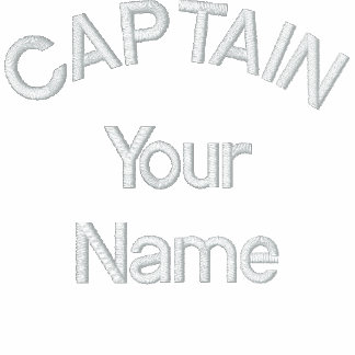 Custom Embroidered Captain Template Embroidered Hoodie